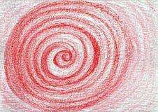抽象构成红色 库存例证