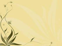 抽象构成花卉向量 免版税库存照片