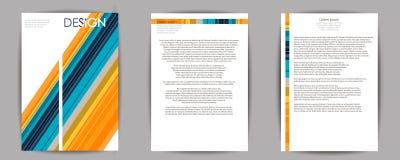 抽象构成,名片集合, a4小册子标题板料, EPS10,模板 免版税库存图片