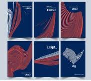抽象构成 线艺术 a4盖子设计集合 库存图片