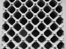 抽象栅格滤网背景,与概略的纹理的黑白金属 库存照片