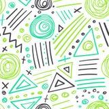 抽象标志五颜六色的线无缝的样式 库存图片