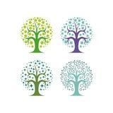 抽象树传染媒介集合 库存图片