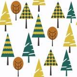 抽象树幻想自然传染媒介无缝的冬天样式 它 免版税图库摄影