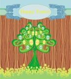 抽象树用复活节彩蛋 免版税库存图片