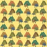 抽象树的无缝的样式 免版税库存图片