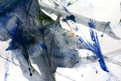 抽象树胶水彩画颜料图画作为背景 免版税库存图片