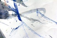 抽象树胶水彩画颜料图画作为背景 免版税库存照片