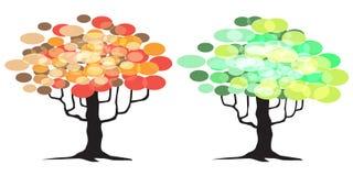 抽象树-图表元素 免版税库存照片
