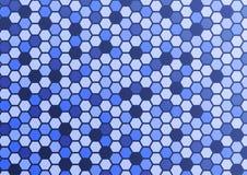 抽象样式六角形蓝色背景 库存图片