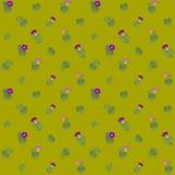 抽象样式墙纸开花野生植物图形设计 免版税图库摄影