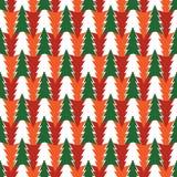 抽象样式的绿色,桔子,红色冷杉,在白色背景 向量例证