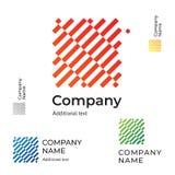 抽象样式设计商标现代干净的身分品牌象商业标志概念集合模板 免版税库存照片