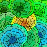 抽象样式,圆的绿色 图库摄影