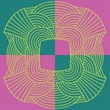 抽象样式结 紫色和绿色 免版税库存照片
