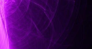 抽象桃红色和紫色光发光,射线,在黑暗的背景的形状 免版税库存照片