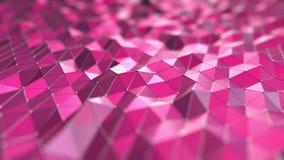 抽象桃红色多角形, 3D翻译 库存照片
