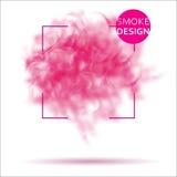 抽象桃红色烟纹理模板 库存图片