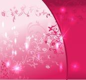 抽象桃红色花卉背景 库存例证