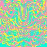 抽象桃红色,蓝色,黄色和淡紫色波动波栅泡泡糖传染媒介样式 Abstra 皇族释放例证