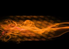 抽象框架橙黄色 免版税库存照片