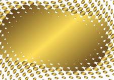 抽象框架金黄向量 免版税图库摄影