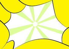抽象框架黄色 免版税库存照片