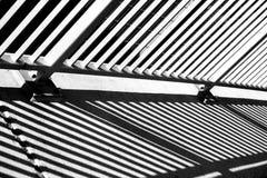 抽象桥梁栏杆 库存照片