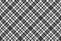 抽象检查映象点格子花呢披肩无缝的样式黑色白色 免版税图库摄影