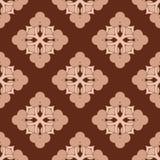 抽象棕色织品模式 向量例证