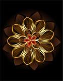 抽象棕色花 库存照片