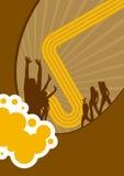 抽象棕色迪斯科海报 免版税库存图片