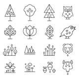 抽象森林图画收藏 皇族释放例证