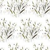 抽象植物和草纹理 库存例证