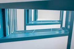抽象楼梯导致高地板 免版税库存照片