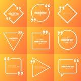 抽象概念传染媒介空的讲话正方形行情文本泡影 对网和流动app在背景 免版税图库摄影