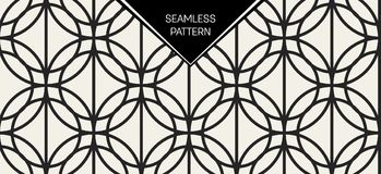 抽象概念单色几何样式 黑白最小的背景 创造性的例证模板 无缝 免版税图库摄影