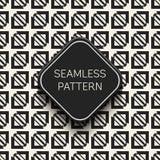 抽象概念单色几何样式 黑白最小的背景 创造性的例证模板 无缝 库存图片