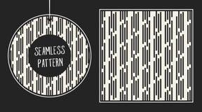 抽象概念单色几何样式 黑白最小的背景 创造性的例证模板 无缝 免版税库存照片