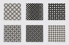抽象概念单色几何样式 黑白最小的背景 创造性的例证模板 无缝 库存照片