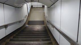 抽象概念性行动仓促台阶地铁 免版税库存照片