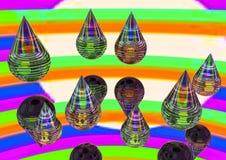 抽象概念酸下落,糖糖果,塑料lolipop 幻觉、精神狂欢、催眠状态和hypnosism 免版税库存图片