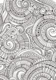 抽象概略装饰乱画手拉的种族样式 免版税库存照片