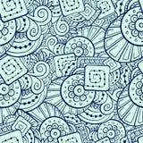 抽象模式无缝的形状 库存图片