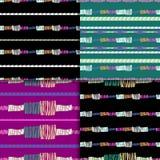 抽象模式无缝的集 免版税库存照片