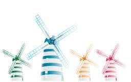 抽象模式风车 向量例证