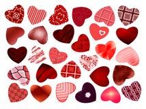 抽象模式 套心脏,华伦泰 免版税库存图片