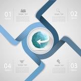 抽象模板4步 对企业概念 免版税库存图片