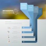 抽象模板4步 对企业概念 图库摄影