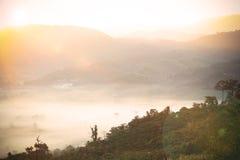 抽象模糊的有雾的海 免版税库存图片